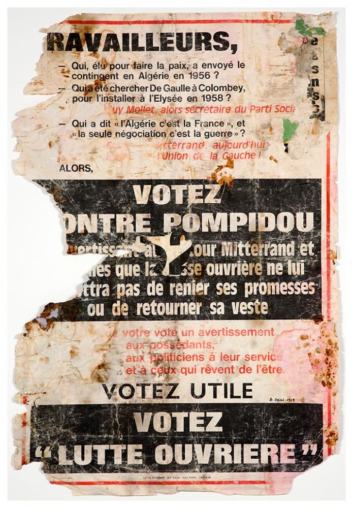 Raymond Hains - Votez contre Pompidou