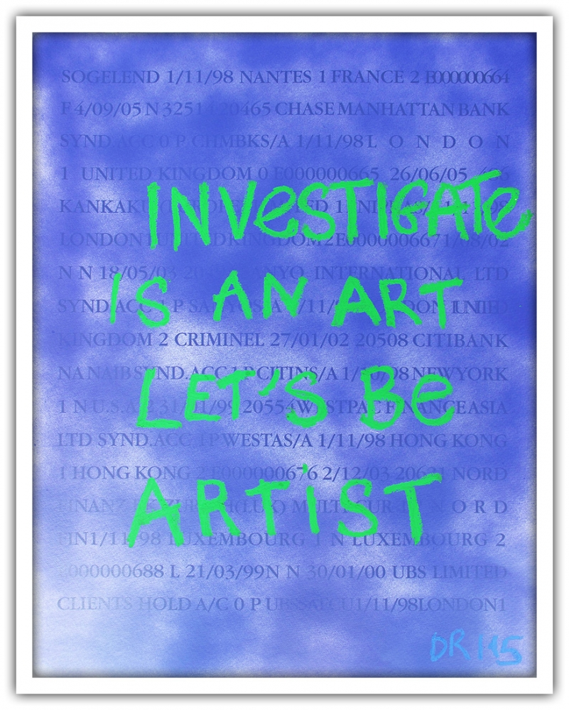 Denis Robert - Investigate is an Art