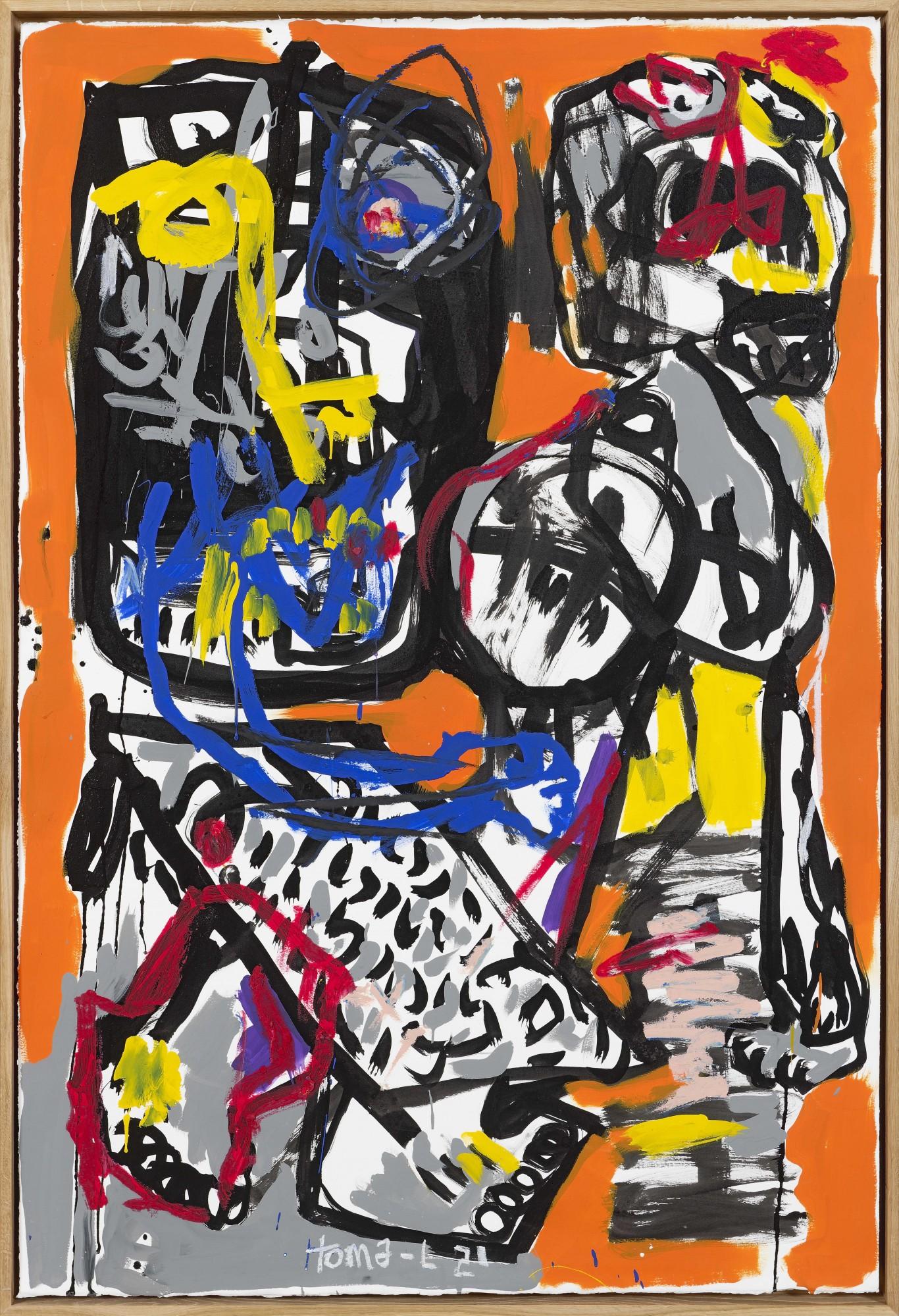 Toma L - « NR04 MERCURIO » Colors on Paper (orange)